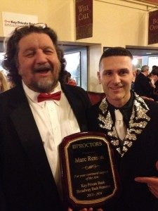 Proctors Award with Phillp Morris