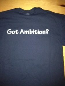 ambition tshirt back