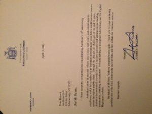 Gov Cuomo letter