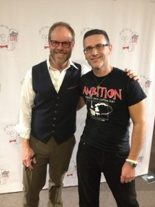 Alton Brown and Marc Renson