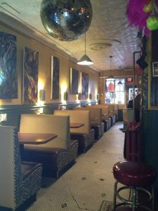 New reupholstered booths