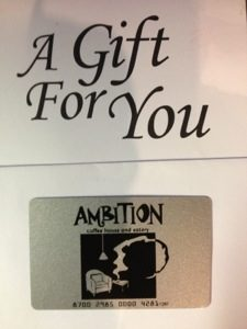 Gift cards at Ambition