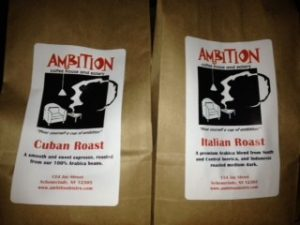 Ambition Coffee Cuban Roast and Italian Roast